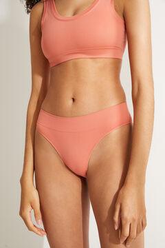 Womensecret Classic pink high waist seam-free panty pink