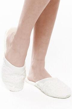 Womensecret Ivette Bridal slippers beige