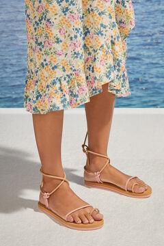 Womensecret Pink strappy sandals pink