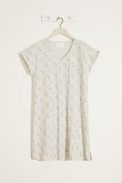 Womensecret Chip midi nightgown grey