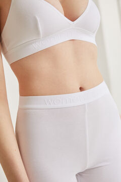 Womensecret White organic cotton cycling shorts white