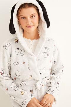 Womensecret Snoopy fleece robe with ears beige