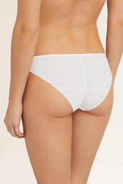 Womensecret Classic mesh and lace panty white