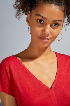 Womensecret T-shirt manches courtes maille rouge rouge