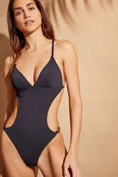 Womensecret Black cut out trikini black