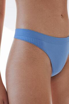 Womensecret Blue seam-free tanga blue