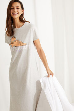 Womensecret Short cotton Garfield nightgown grey