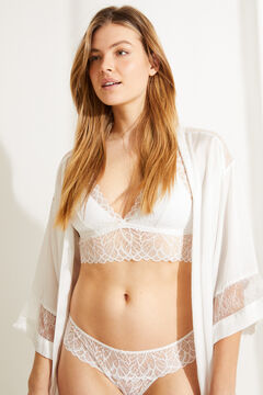 Womensecret Culotte classique dentelle blanche blanc