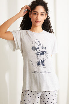 Womensecret Long super soft Minnie Mouse pyjamas in grey grey