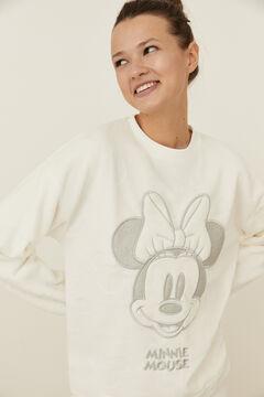 Womensecret Ivory fleece Minnie pyjamas beige