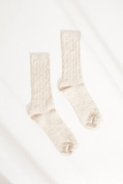 Womensecret Ribbed mid-length socks nude