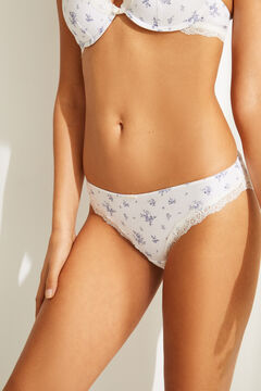 Womensecret Classic floral lace panty white