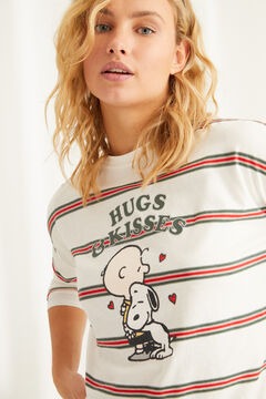 Womensecret Long-sleeved cotton Snoopy pyjamas beige