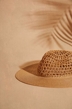 Womensecret Natural wide brimmed beach hat nude