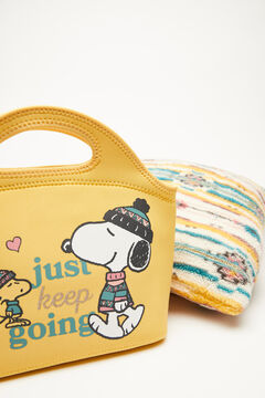 Womensecret Boîte repas néoprène moutarde Snoopy imprimé