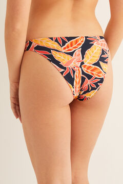 Womensecret Reversible tropical and plain bikini bottoms red