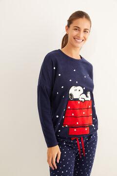 Womensecret Pyjama Fleece Snoopy Navy blau