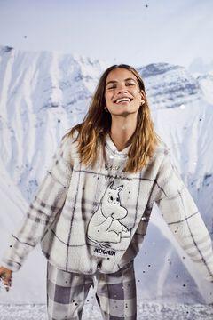 Womensecret Pijama largo sherpa Moomin  blanco