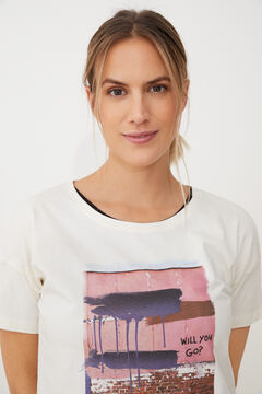 Womensecret T-shirt de manga curta branco