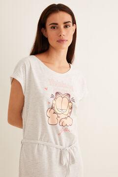 Womensecret Camisa de dormir curta Garfield cinzento