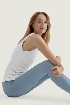 Womensecret T-shirt Ustra Tank Top Stone Blue branco