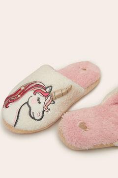 Womensecret Unicorn slippers white
