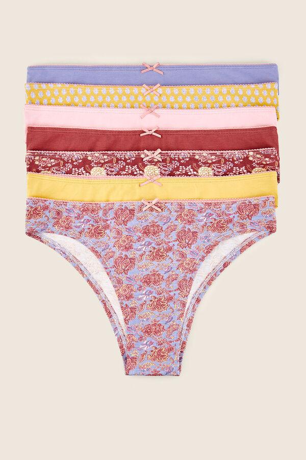 05bf17f3955b Womensecret Pack 7 braguitas brasileñas multicolor estampado