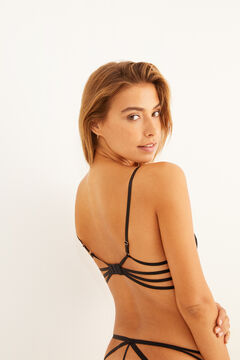 Womensecret Black lace strappy push-up bra black