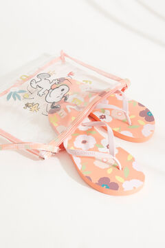 Womensecret Snoopy sandals and vanity case set printed