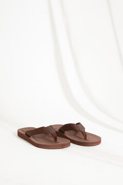 Womensecret Men's brown thong sandal nude