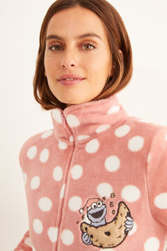 Womensecret Cookie Monster polka-dot robe pink
