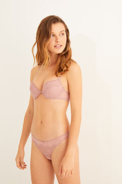 Womensecret Pink plumeti and loose lace set