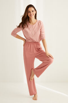 Womensecret Pyjama set with Henley t-shirt and wide leg bottoms