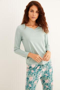 Womensecret Floral print green pyjama set