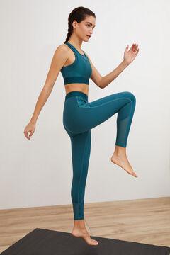 Womensecret Conjunto de sujetador deportivo y legging tobillero