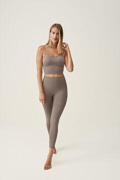 Womensecret Conjunto de top y legging Prasarita Topo