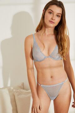 Womensecret Blue plumeti bra and panty set