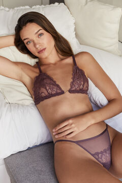 Womensecret Triangle bra and classic panty set