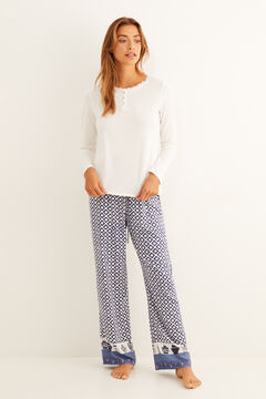 Womensecret Navy seal printed pajama set