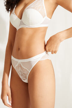 Womensecret Halter bra and classic lace panties set