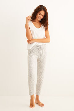 Womensecret Paisley printed pyjama set  with lace details
