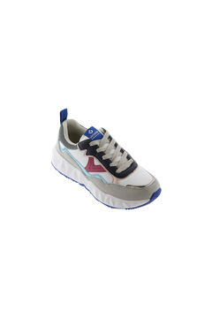 Womensecret Long blue velour top and trousers and multicolour sneakers set