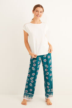 Womensecret Flower and lace printed pyjama set