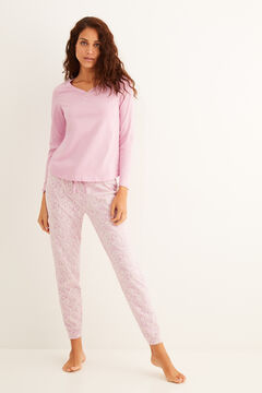 Womensecret Pink printed pyjama set