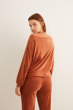 Womensecret Set of sweatshirt and velour trousers