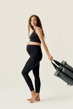 Womensecret Conjunto de sujetador y legging Mommy Top Black