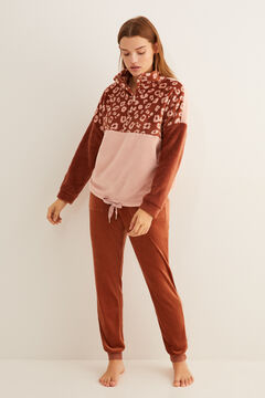 Womensecret Set of fleece sweatshirt and velour trousers