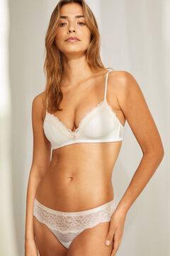 Womensecret Lace triangle bra and tanga set