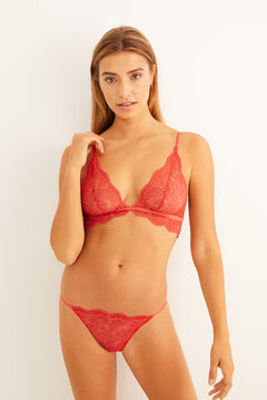 Womensecret Terracotta lace set