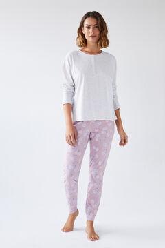 Womensecret Conjunto de camiseta y pantalón largos